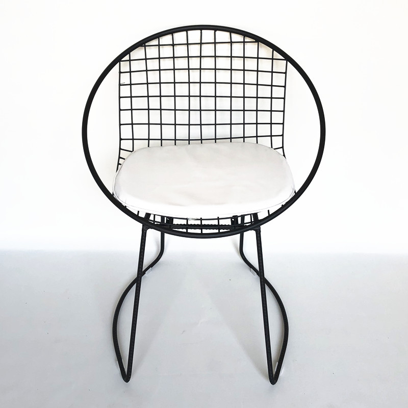 Chair black with cushion