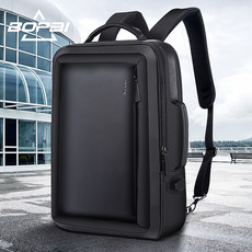 BOPAI Bo business backpack male expandable travel anti-theft backpack men Square 15.6-inch computer bag tide