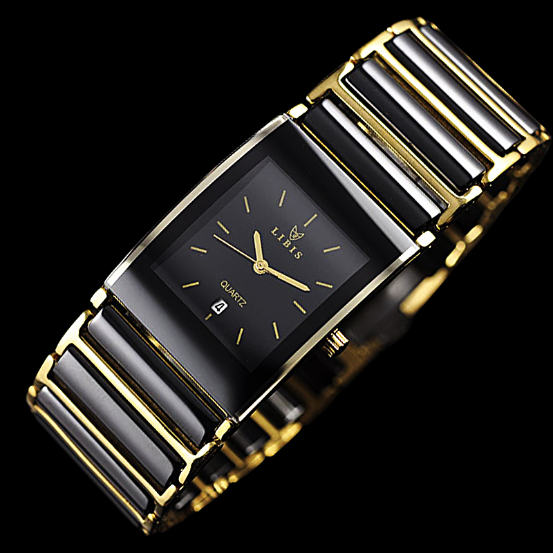 STUDDED GOLD MALE WATCH
