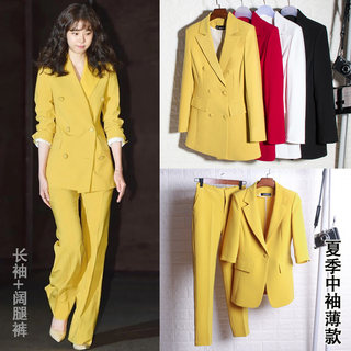 Suit suit female red British style professional wear net red suit wide-leg pants high tide cold Yu sister foreign fashion autumn