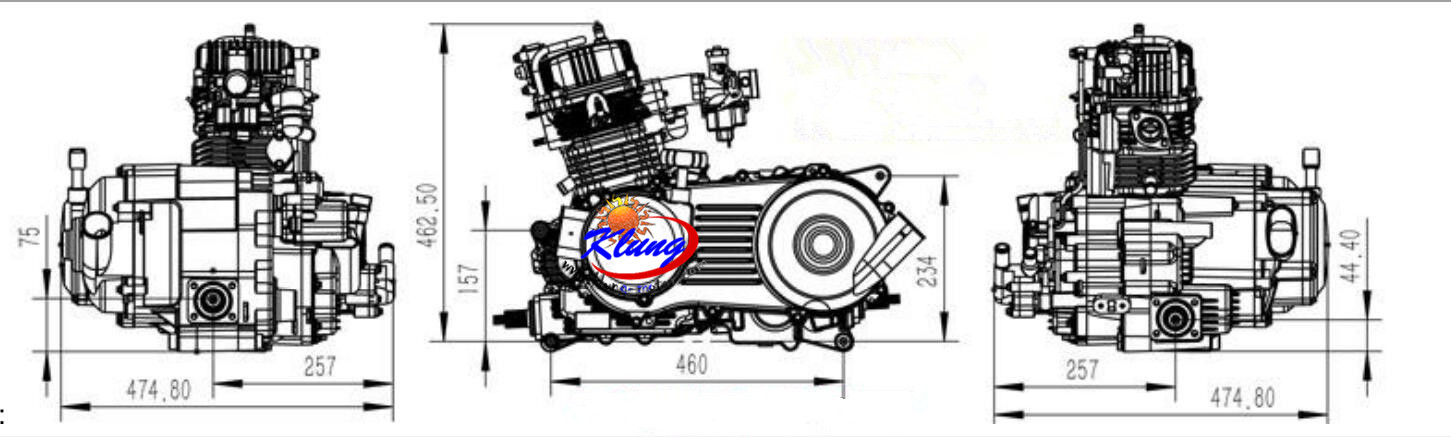 320cc 4x4 engine drawing