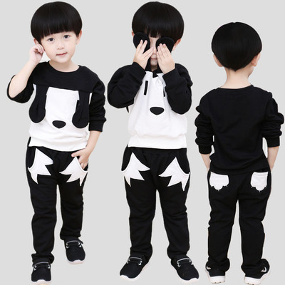 Children's autumn children's clothing 2017 boys suits 3-4-5-6 years old baby spring and autumn sweater children's leisure sports