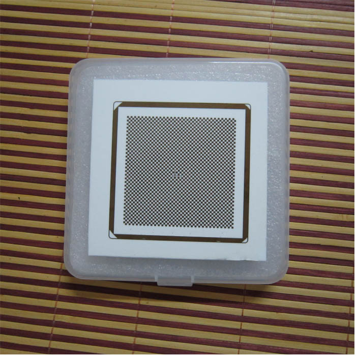CCD lens camera calibration plate 114x114mm accuracy 0 001mm