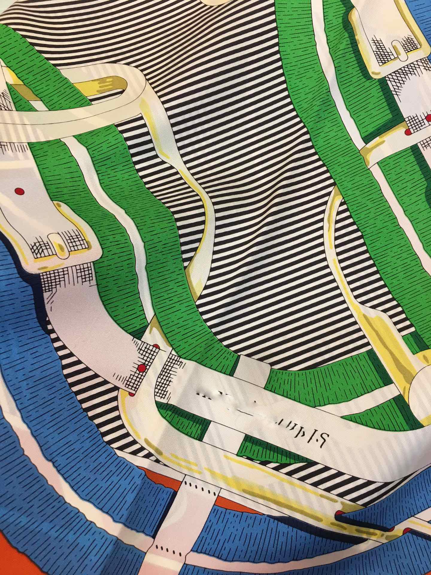 爱马仕真丝丝巾大方巾90*90 马嚼锁环衬衫 围巾批发杭州围巾生产厂家(图17)