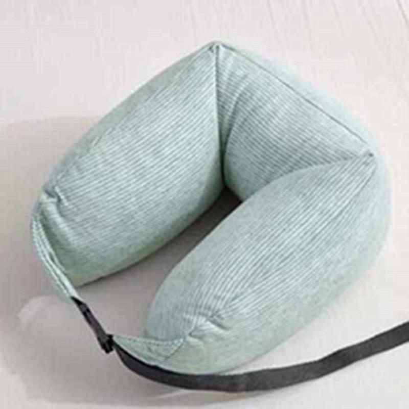无印全棉u型护颈枕 脖子颈椎靠枕