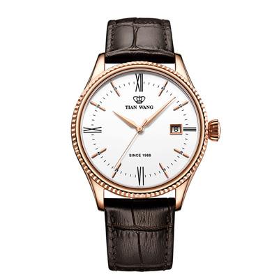 天王手表男士自动机械表男表正品镂空皮带手表品牌51154