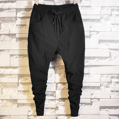 Spring red nets with the same paragraph pants men's Slim trousers Korean version of the spirit of the social guy big hooves feet pants