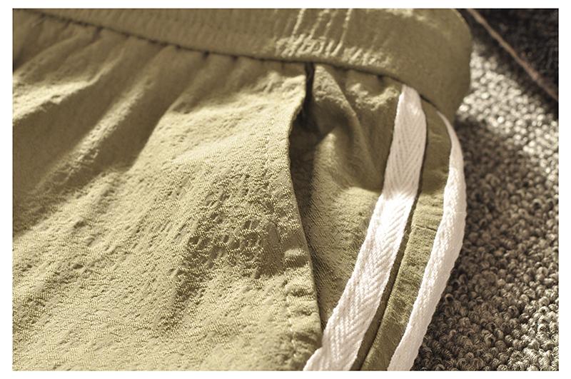 Tinh thần guy mùa hè dải màu trắng chín điểm quần người da đỏ xã hội chùm nhỏ feet phần mỏng Hàn Quốc phiên bản của tự trồng lớn quần mỏng