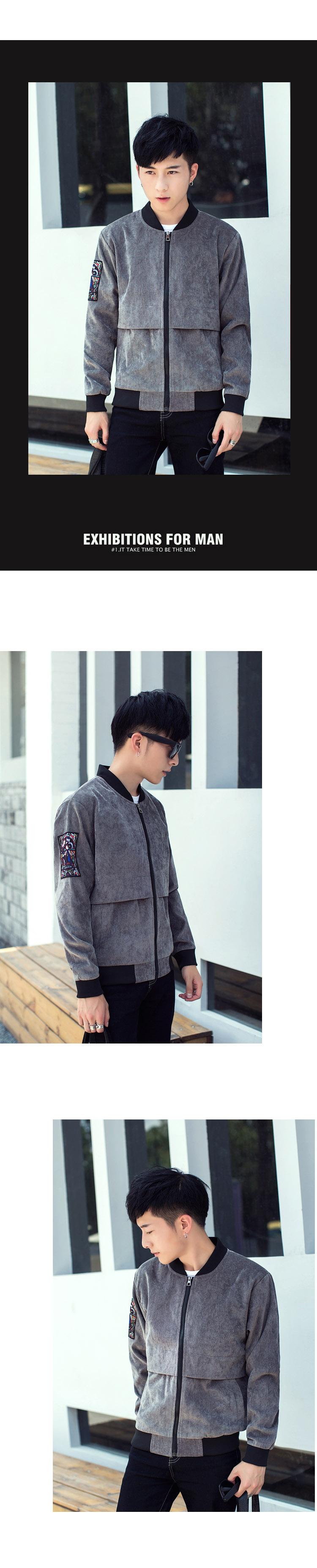 Của nam giới 2017 mùa thu mới của Hàn Quốc áo khoác giản dị áo khoác mùa xuân và mùa thu quần áo thời trang sinh viên xu hướng hoang dã mùa thu