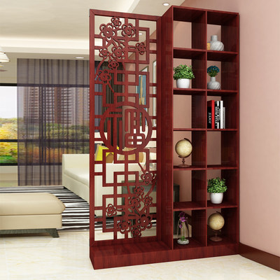 Entrance entrance entrance porch cabinet partition cabinet screen hollow living room decoration wine cabinet simple modern small apartment new Chinese style
