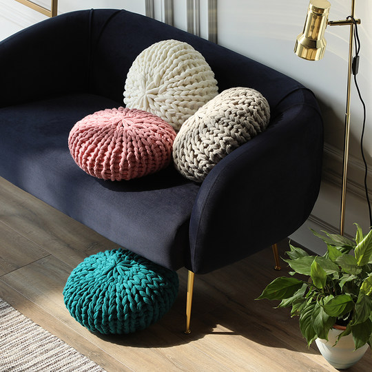 Alley tricks 丨 Benefits sofa Nordic living room office reliable sand hairpin pillow small pillow pillow