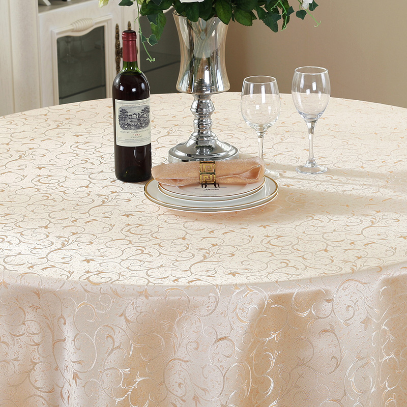Usd 652 Hotel Table Cloth European Round Table Cloth Restaurant