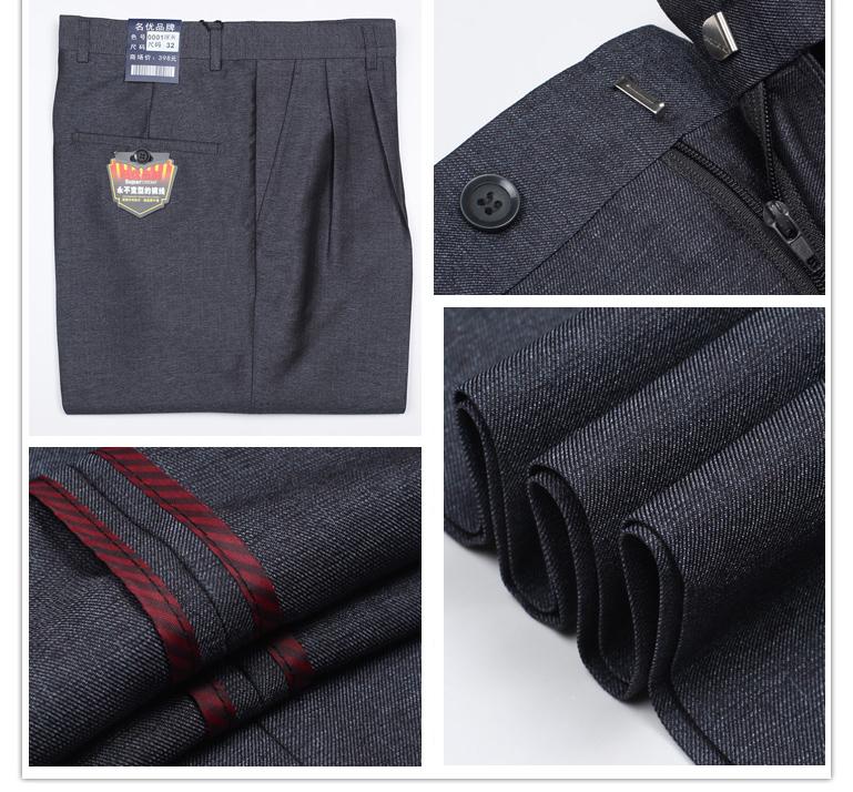 Sak kangaroo người đàn ông trung niên của đôi xếp li quần mùa hè phần mỏng eo cao sâu tập tin lỏng người đàn ông nóng của quần phù hợp với quần