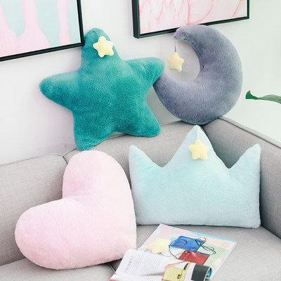 Nordic ins sofa pillow cushion car cushion office waist support bedside back cushion lunch break pillow cute