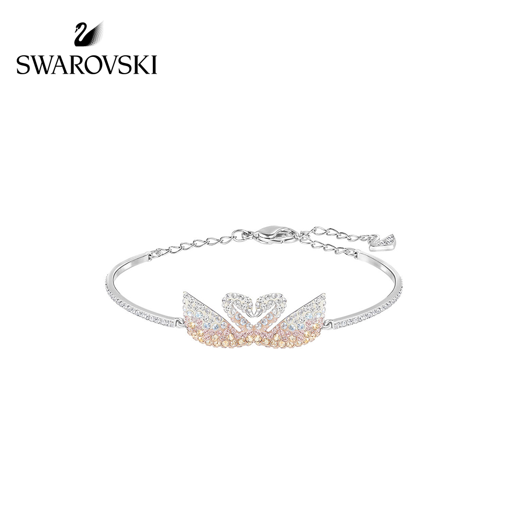 Swarovski ICONIC SWAN fashion gradient Swan bracelet bracelet jewelry send  girlfriend gift 37c432ee5e