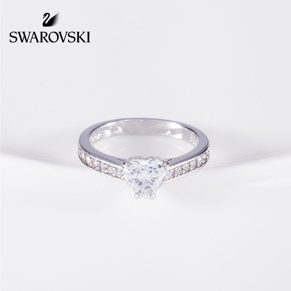 ac22b9eaa ... lightbox moreview · lightbox moreview. PrevNext. Swarovski Attract Heart  platinum plated Crystal texture romantic heart ring