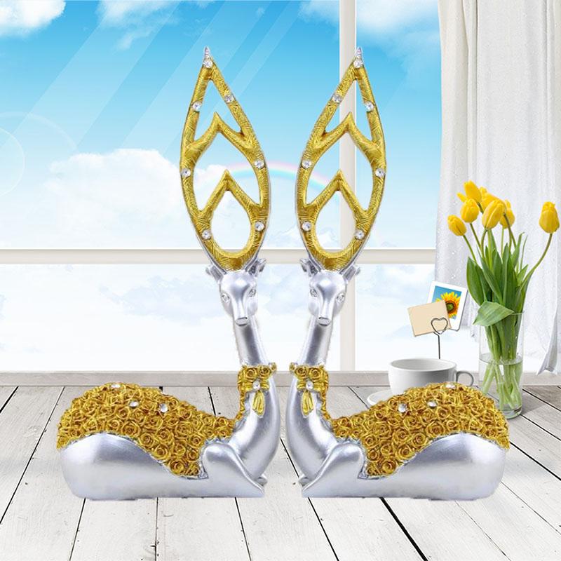 桌面装饰品小鹿摆件客厅酒柜书桌家居摆设小饰品工艺现代简约创意