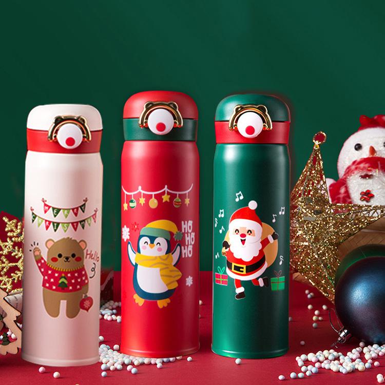 时尚潮流圣诞保温弹跳杯少男少女儿童可爱创意个性潮流保温水杯
