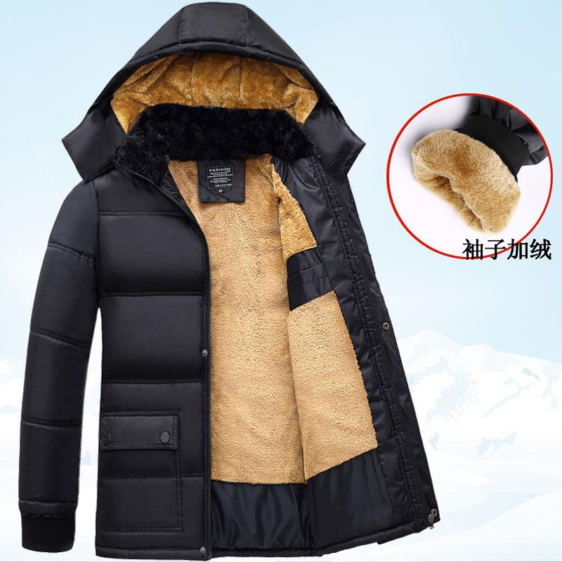 冬季中老年人40加绒加厚2016新款棉衣50岁中年爸爸男冬装外套爷爷