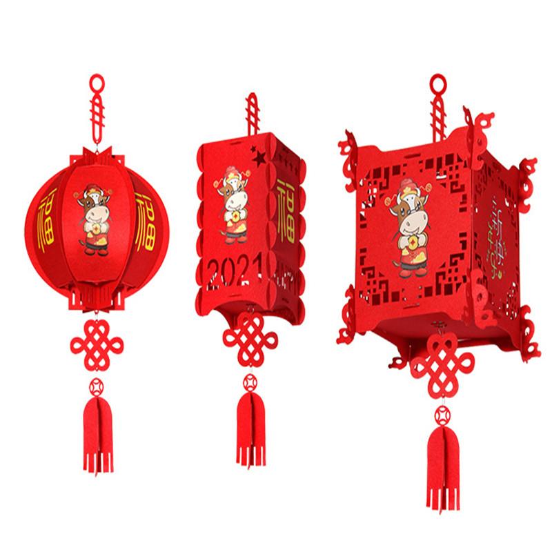 羊皮灯笼户外防水防晒仿古中式广告定制印字红灯笼吊灯中国风挂饰