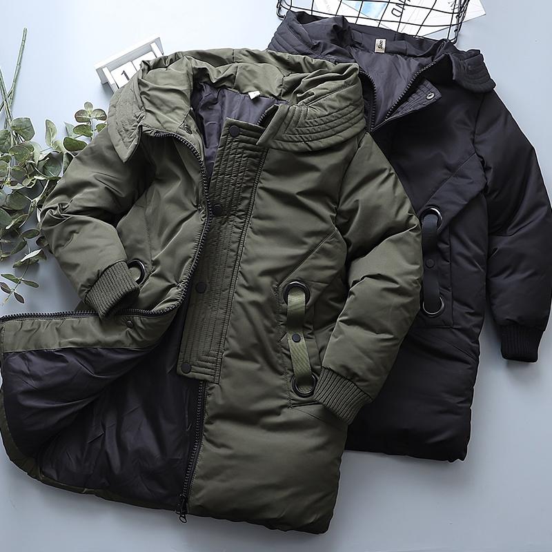 棉袄长款过膝男童男孩保暖上衣棉服2019冬款儿童羽绒洋气保暖棉衣