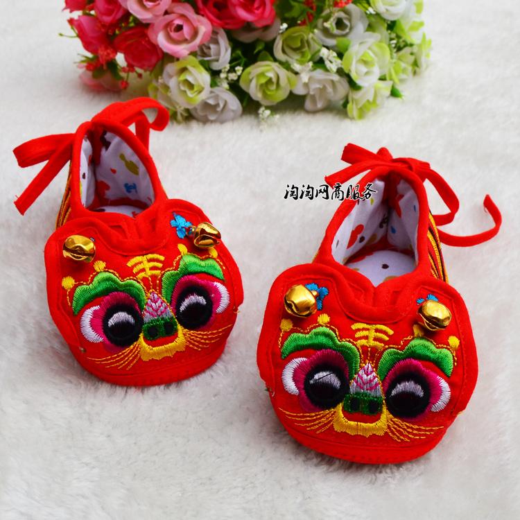 男女儿童宝宝布鞋婴儿虎头鞋秋冬软底老虎鞋棉鞋子0-3-6-9个月1岁