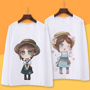 The fifth character animation game surrounding long-sleeved T-shirt Dingjie Ke garden spider male and female students of secondary yuan autumn clothes