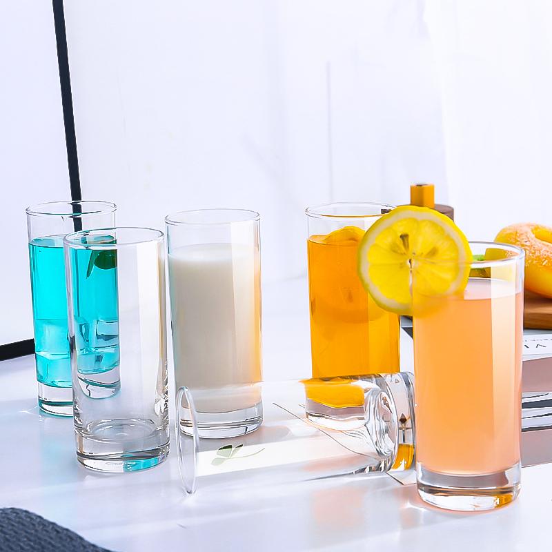 ocean进口玻璃杯家用套装办公室水杯茶杯牛奶杯透明耐热6只装无盖