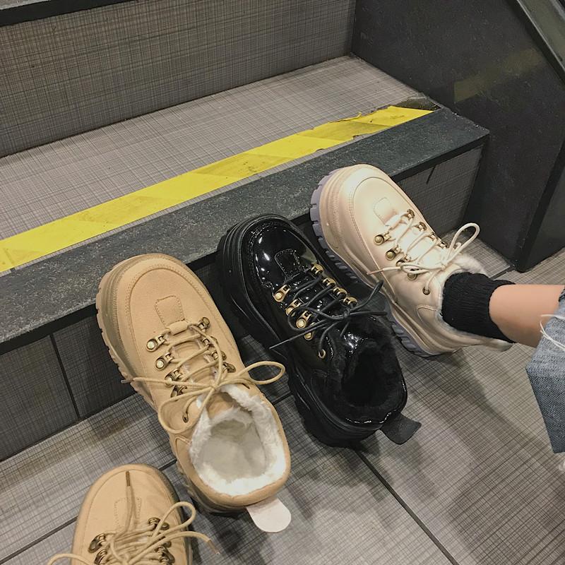 Ins превышать пожар из старый отец обувной женщина 2019 новый зимний осенний посеребрённый студент толстая корка мелочь движение обувь волна 582300755657