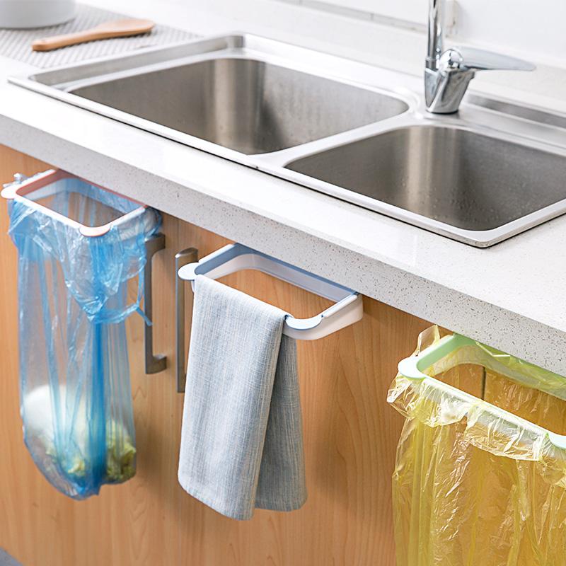 Складной шкаф для стойки для мусора для кухни дверь Висячие корзины для хранения мусора