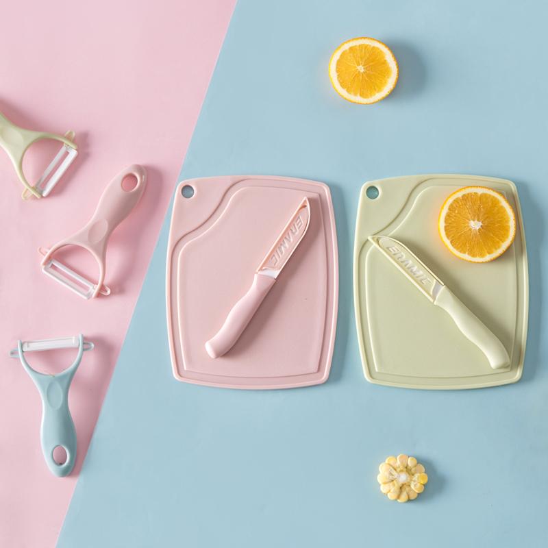 Керамика фрукты нож вырезать кожа устройство модельочная доска плаха три образца домой инструмент кухня керамический нож вырезать кожа нож нож
