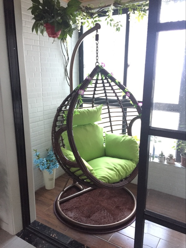 Chair Hanging Basket Rattan Chair Rocking Chair Rattan Swing Chair Balcony  Indoor And Outdoor Single Double ...