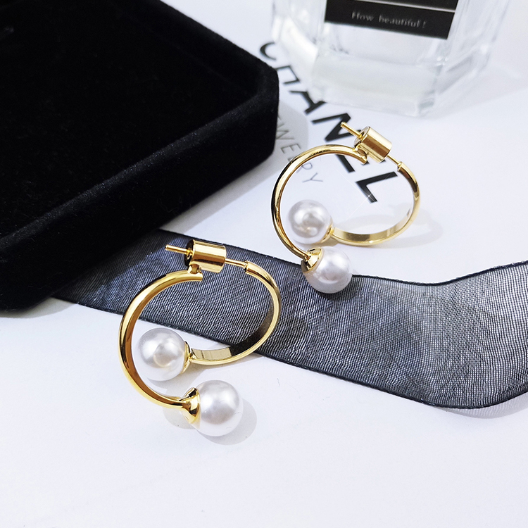X993-1 Double Pearl Earrings