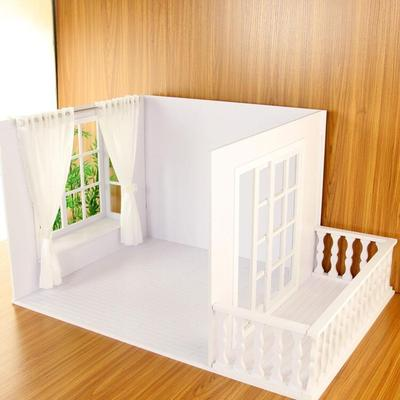 taobao agent 【Nanjing physical store】BJD/SD doll 6 points doll house scene background with bay window balcony sliding door cabin