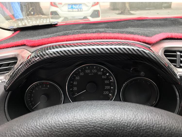 Bộ ốp nội thất màu đen cacbon Honda City - ảnh 6
