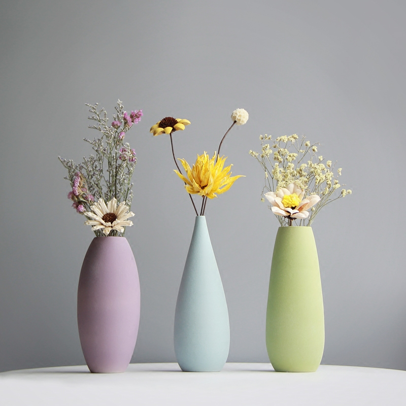 ChinaHao.com & Vase decoration living room flower arrangement small fresh dried flower vase simple modern ceramic handmade flower table decorations