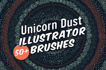 独角兽尘埃插画画笔 Unicorn Dust Illustrator Brushes