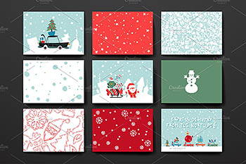 免费的圣诞节矢量素材 Merry Christmas Card Template