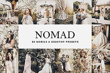 50个棕褐色电影暖色调Lightroom预设&LUT 50 Nomad Lightroom Presets and LUTs