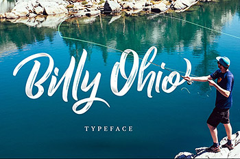 手写字体流畅英文 Billy Ohio Typeface