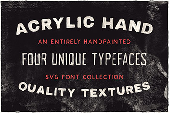 手绘字体效果 Acrylic Hand - SVG Font Collection