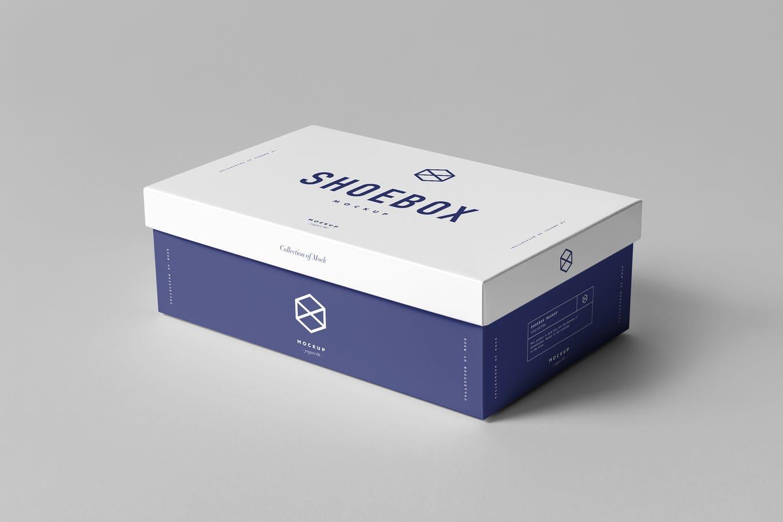 高品质的高端鞋盒盒子包装盒VI样机展示模型mockups设计素材模板