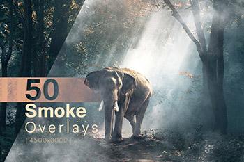50个高品质的虚幻梦龙烟雾覆盖物滤镜叠加背景纹理集合