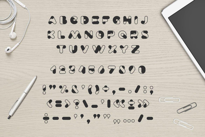 时尚可爱的高端Airy英文字体设计素材模板