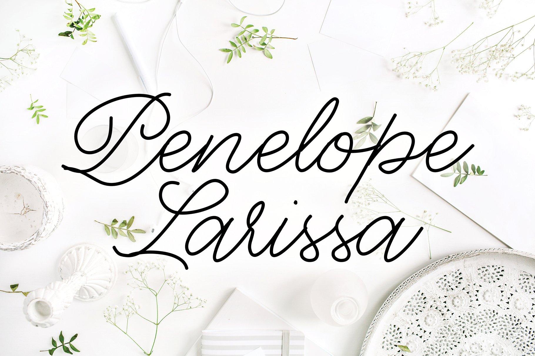 佩内洛普拉里萨字体 Penelope Larissa Font设计素材模板