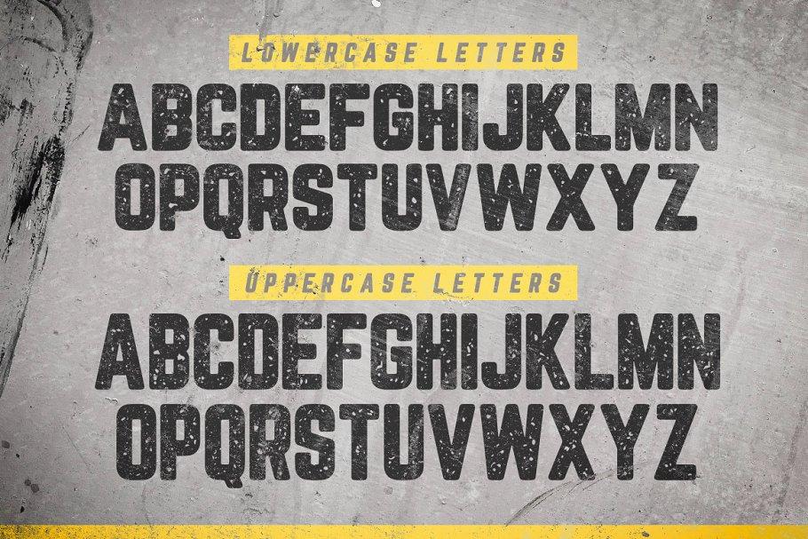 黑体广告体字体 Blocklyn Font Family + Mockups设计素材模板