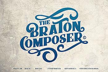 优雅的手绘字体合集 Braton Composer Typeface