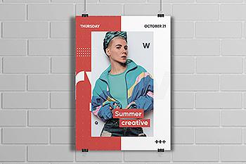 潮流时尚风格海报设计模板 Pashion Style Poster