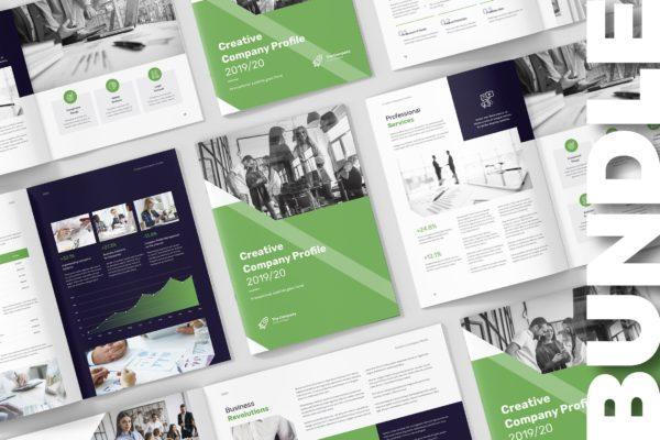 多用途创意机构/公司宣传画册设计模板 Creative Multipurpose Company Profile Bundle