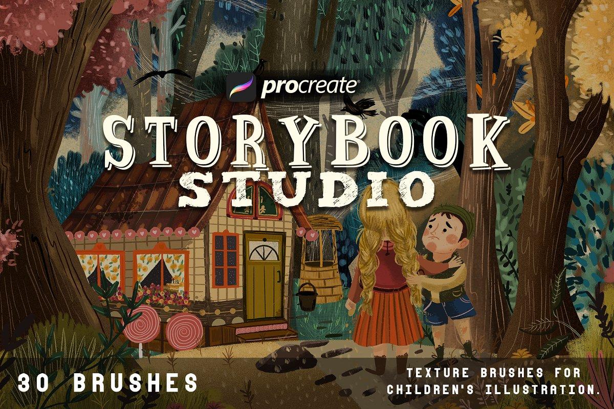 iPad专用Procreate童话故事主题笔刷下载设计素材模板